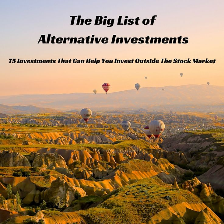 The Big List of 75 Alternative investments