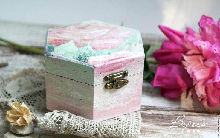Купить Коробочка-подушечка для свадебных колец Пастель - бледно-розовый, пастельная гамма, пастель, шкатулка