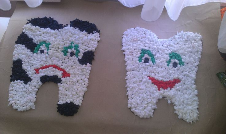 Diş sanat etkinliği ... Tooth art craft