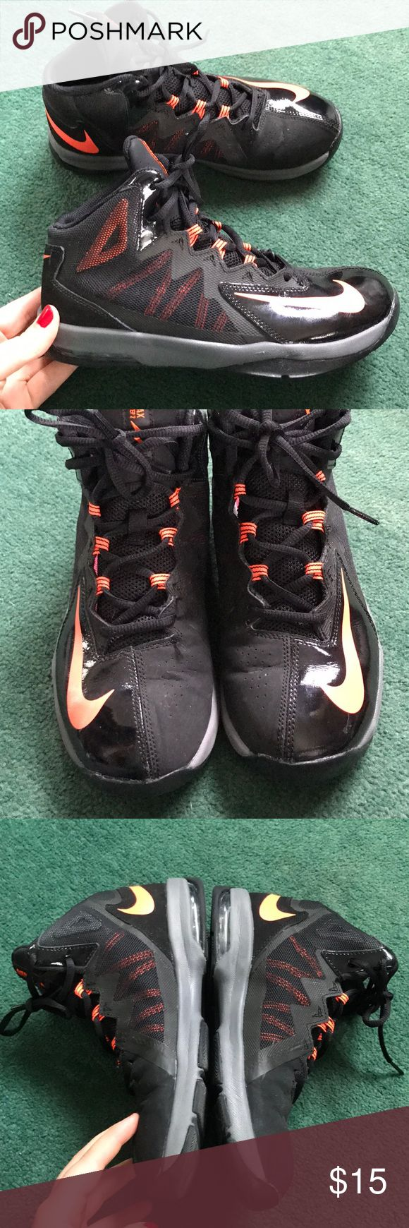 Nike AirMax Stutter Step 2 Basketball Shoes In good used condition. Unisex. Orangish color and black. Nike Shoes Sneakers