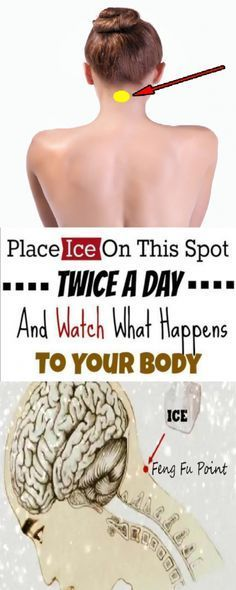 Be Healthy And Youthful: Put An Ice Cube At This Point On Your Head