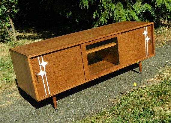 mid century inspired danish modern tv stand credenza entertainment ce. Black Bedroom Furniture Sets. Home Design Ideas