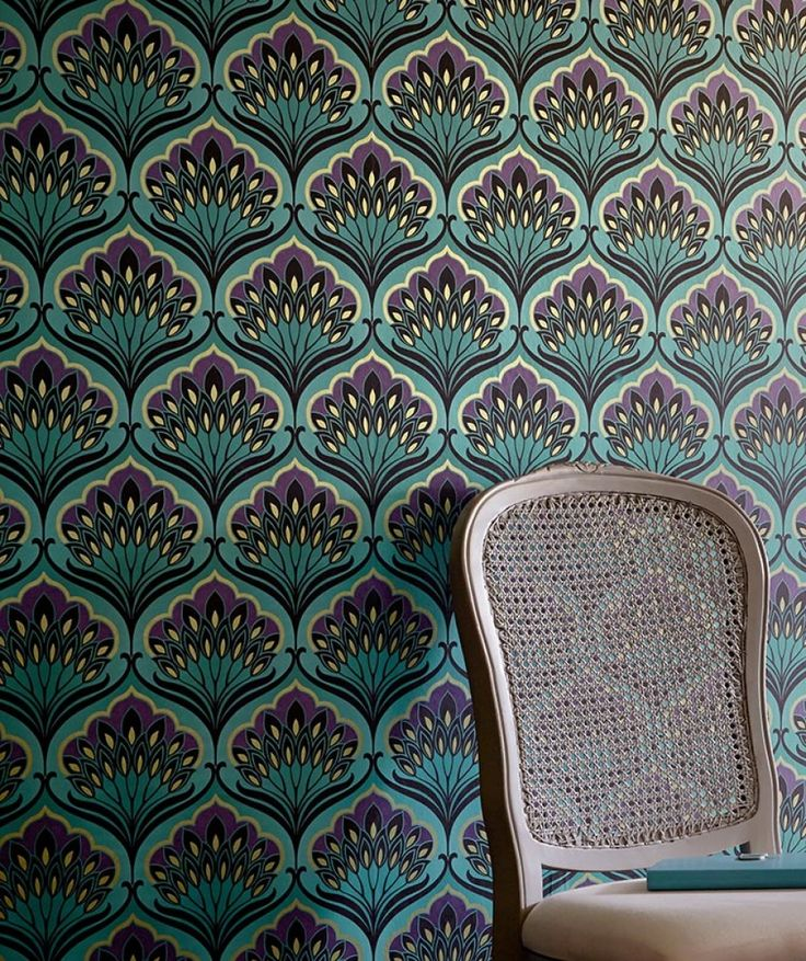 Mex$1,425.34 Price per roll (per m2 Mex$272.53), Baroque wallpaper, Carrier material: Non-woven wallpaper, Surface: Smooth, Look: Shimmering, Design: Floral damask, Basic colour: Turquoise blue, Pattern colour: Dark violet, Green beige, Black, Characteristics: Good lightfastness, Low flammability, Strippable, Paste the wall, Wash-resistant