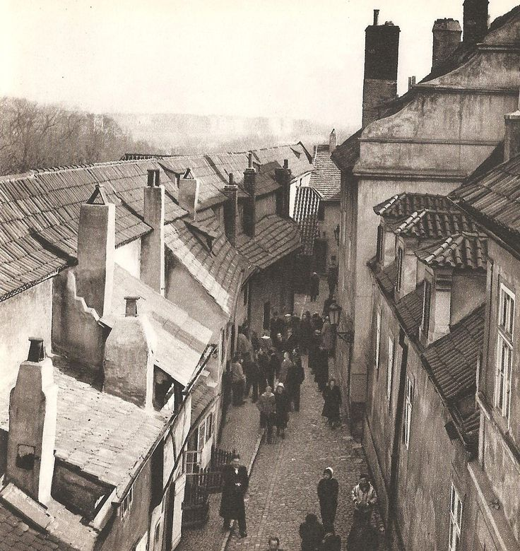 Prague, Golden Lane by O.Straka, 60's