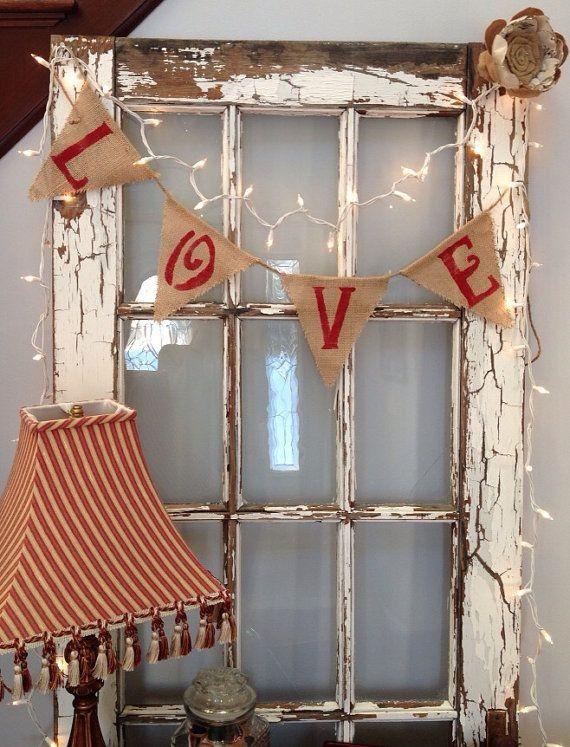 Country Wedding Burlap Banner, triangles and sewed lace wedding decor, rustic wedding ideas #2014 Valentines day wedding #Summer wedding ideas www.dreamyweddingideas.com