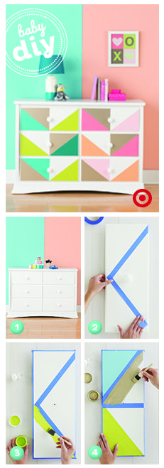 This #DIY painted dresser would be such a great statement piece in the nursery or child's room!
