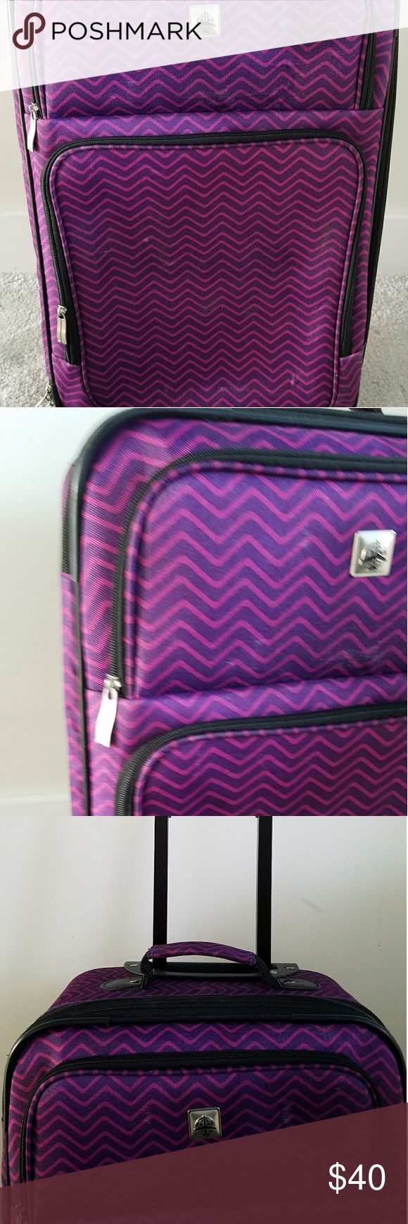 Great condition suitcase travel set Great condition only used twice.  Set includes roller suitcase with small travel bag. Purple color. Selling because I got a new suitcase. Smoke free home. Price negotiable. Bags Travel Bags