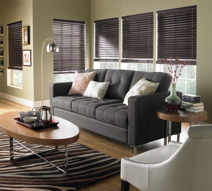 Modern Living Room Blinds best 25+ dark wood blinds ideas on pinterest | white wood blinds
