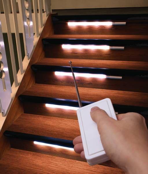 Superb LED Treppenbeleuchtung mit LED Leisten Fernbedienung Halterung westfalia de