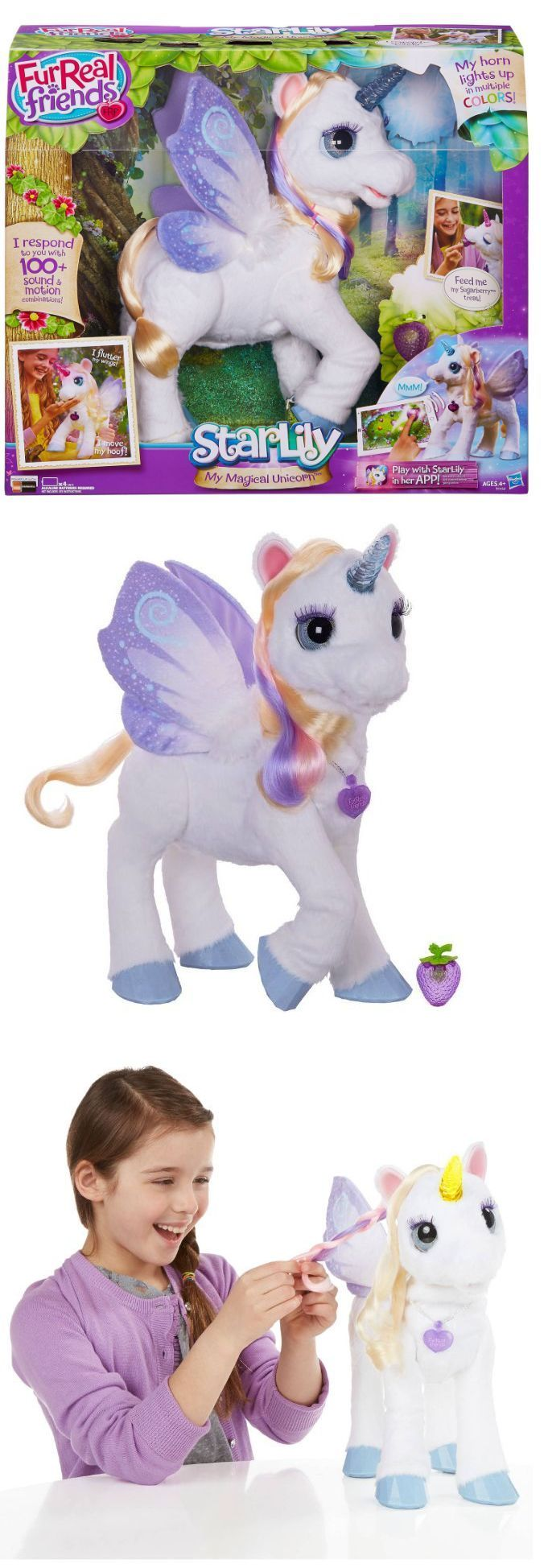 FurReal Friends 38288: Furreal Friends Pony Toys For Girls Age 3 4 5 6 7 Starlily My Magical Unicorn -> BUY IT NOW ONLY: $109.99 on eBay!