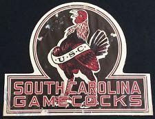 rare 1939 SOUTH CAROLINA USC COLLEGE FOOTBALL SCHEDULE WINDOW DECAL / STICKER