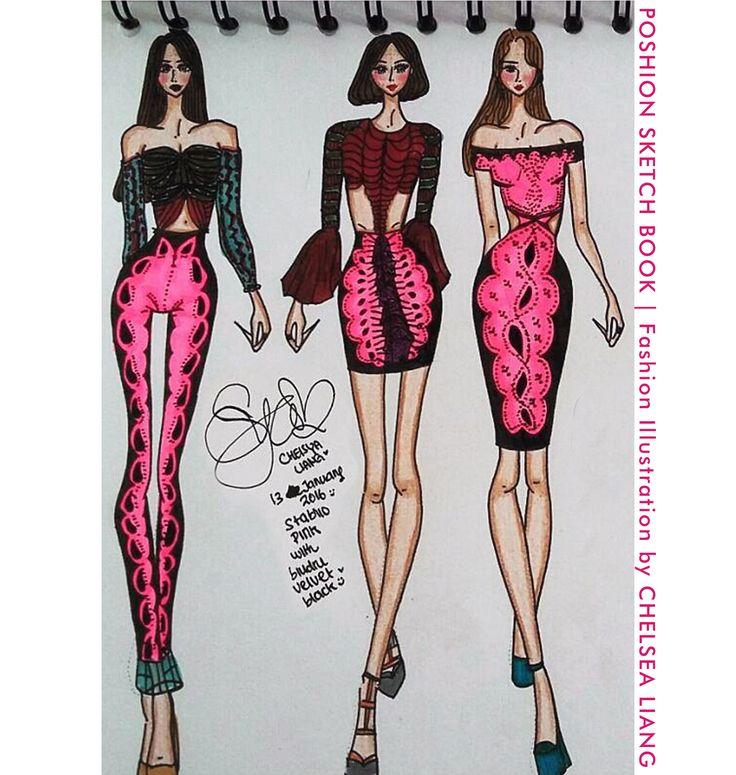 Poshion Sketch Book | #fashionillustration #sketchbook #fashionsketch #fashiondesign #draw #croquis #learntodraw #fashionposes #fashionfigure #fashion #batik #textiledesign #indonesiandesigner #fashiondesigner