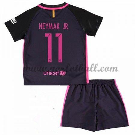 Billige Fotballdrakter Barcelona 2016-17 Neymar Jr 11 Barn Borte Draktsett Kortermet