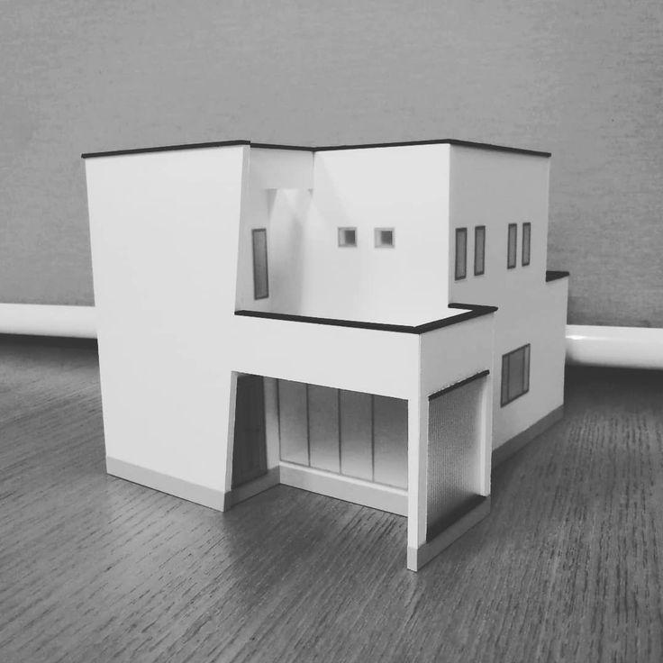 ナナメ が特徴の家 住宅模型キット Dekita の販売 ナナメ