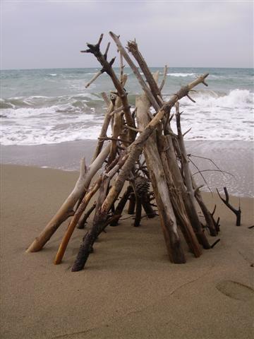 la capanna sulla spiaggia