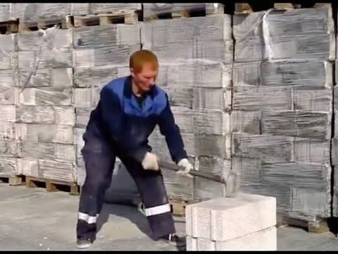 Unbreakable polystyrene concrete bricks