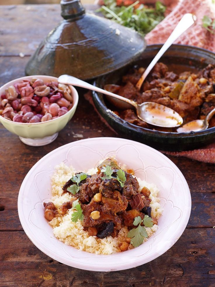 Beef tagine, Slow-cooked with squash, sticky prunes and chickpeas by Jamie Oliver [recipe]