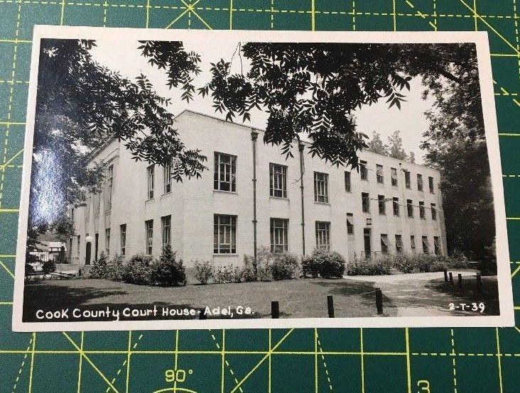 Adel Georgia GA Cook County Court House RRPC Vintage Postcard Free Shipping