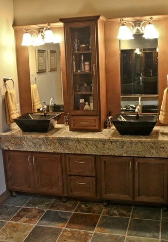 124 best images about double sink bath cabinets on for Traditional master bathroom ideas