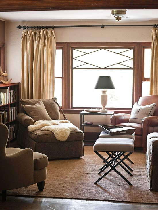 Cozy color schemes for every room armchairs smooth and sheepskin throw - Choose color scheme every room ...