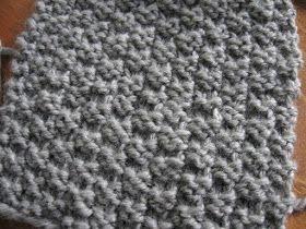 a.n.i.m.é.: Point facile au tricot: le point de damier 2 mailles