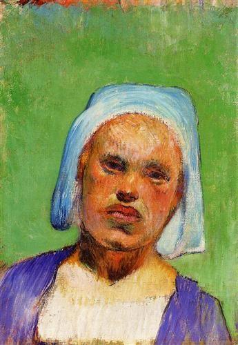 Head of a Breton (Marie Louarn) - Paul Gauguin