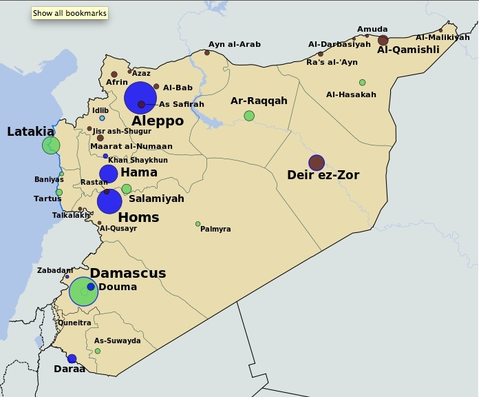 Syrian war Map