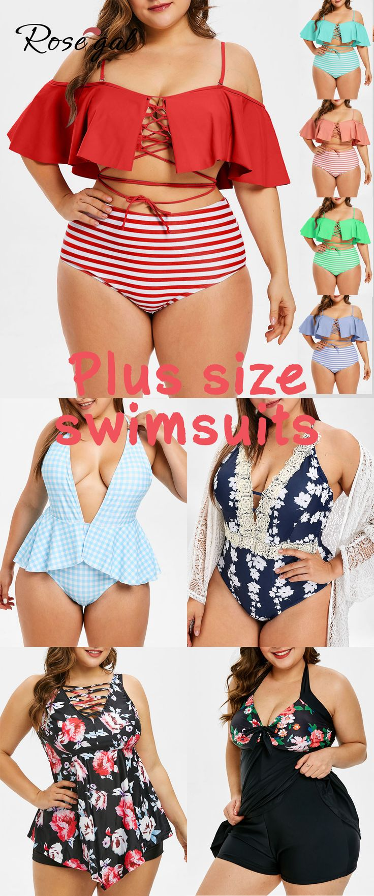 Rosegal plus size swimsuits spring summer fashion trends