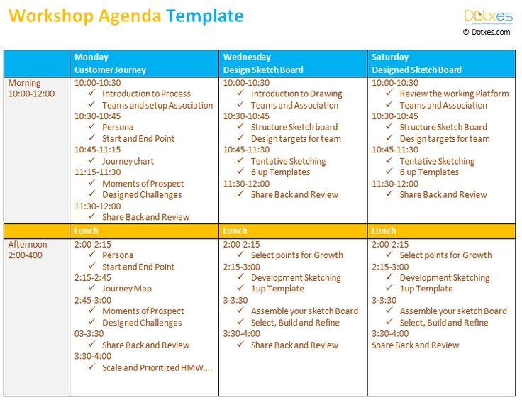 17 Best images about Agenda Templates Dotxes – Workshop Agenda Example