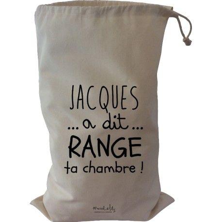 baluchon XL jacques a dit range ta chambre, un joli sac pour ranger tous les joujoux qui traînent signé Marcel & Lily