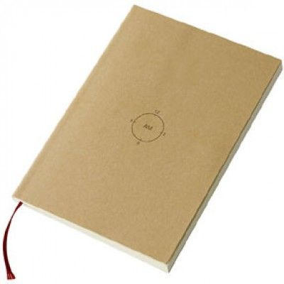 """CHRONOTEBOOK (AM/PM SCHEDULER)  MUJI New York  #ivankatrumpshop    """"SEEMS TO EXIST ANYWHERE BUT HARDLY FIND IT."""""""