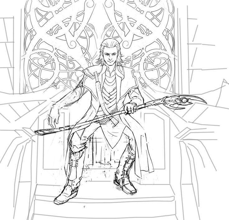 Loki Coloring Pages Loki Wip 3 By Cyannfanart Marvel