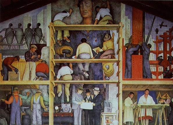 Diego rivera mural at san francisco art institute the for Mural diego rivera