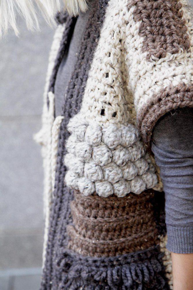 Sherpa Poncho Horgols Pinterest Crochet Crochet Patterns S