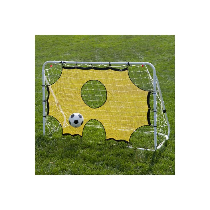 Lion Sports 3-in-1 Soccer Trainer Goal Rebounder & Training Aid, White
