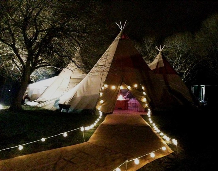 How about having your wedding reception in a Tipi? They look gorgeous lit up on a night