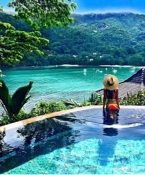 World's Wonderful and Beautiful Beach at Seychelles Islands