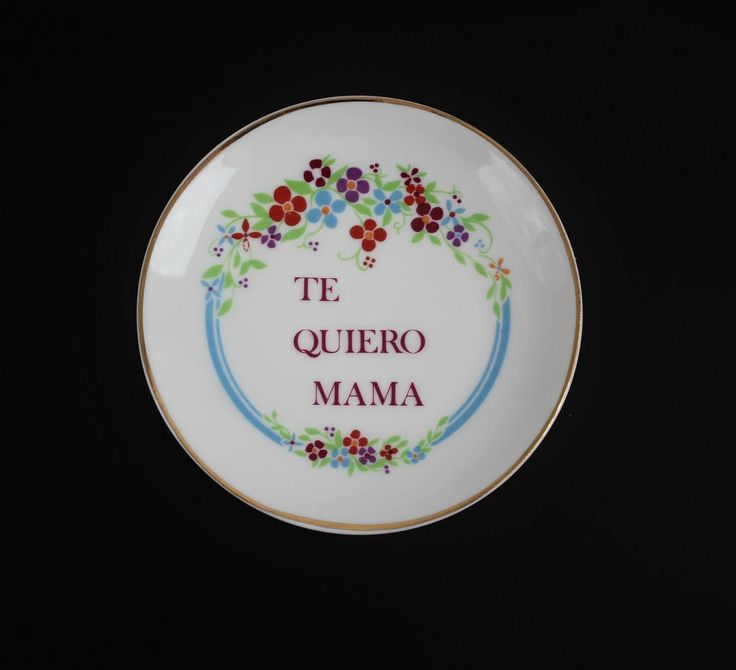 Vintage Porcelain Spanish Plate - Te Quiero Mama - I Love You Mama - Pin Dish Plate - Ring Dish - Porcelanas Sanbo Made in Spain by Suite22 on Etsy