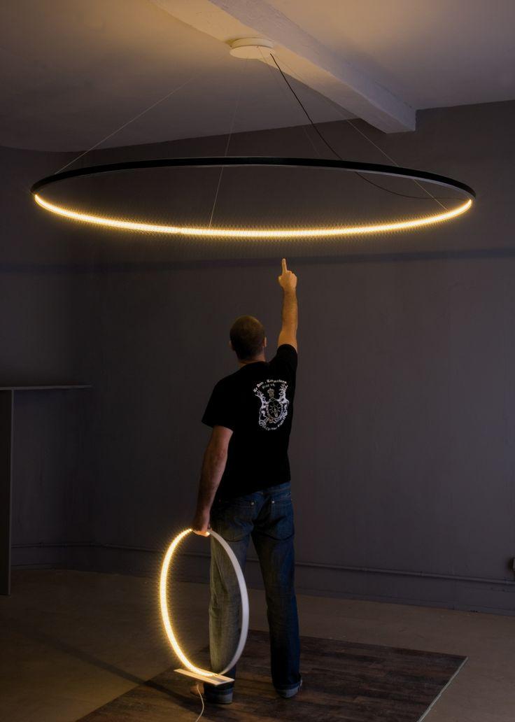 Lampada a sospensione a LED a luce diretta e indiretta in acciaio OMEGA 200 by Le Deun Luminaires