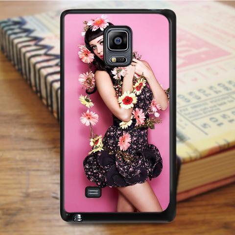 Katty Perry Beautiful Flowers Samsung Galaxy Note 4 Case