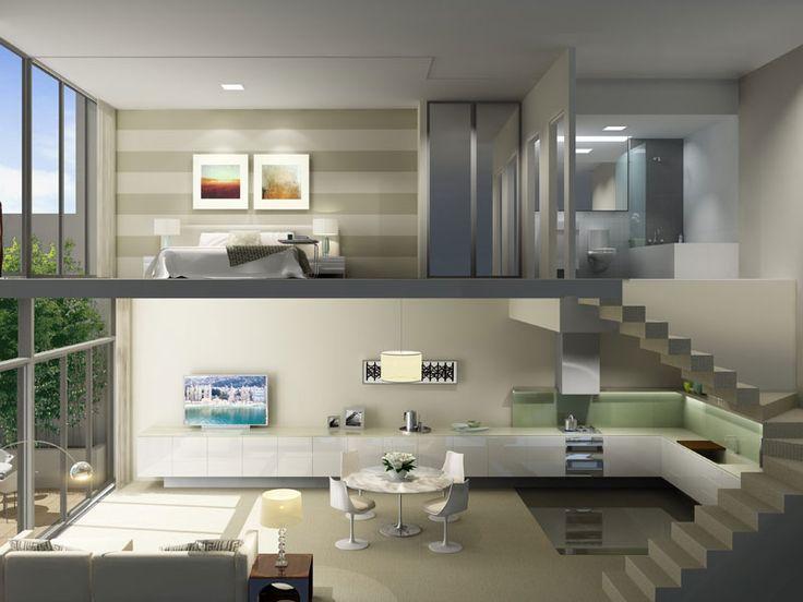 Spacious dual level apartment with open plan design
