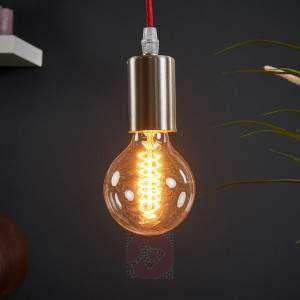 Lámpara colgante Haiko con cable rojo. Ref.: 4014709. Puedes encontrar esta lámpara estilo industrial en la tienda de Lampara.es.