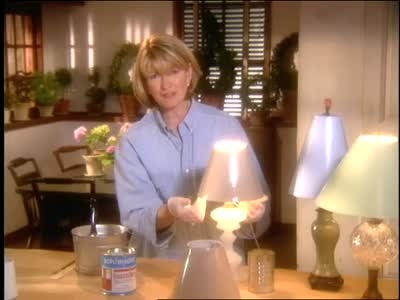 Martha Stewart shows how to paint a lampshade to match any lamp.