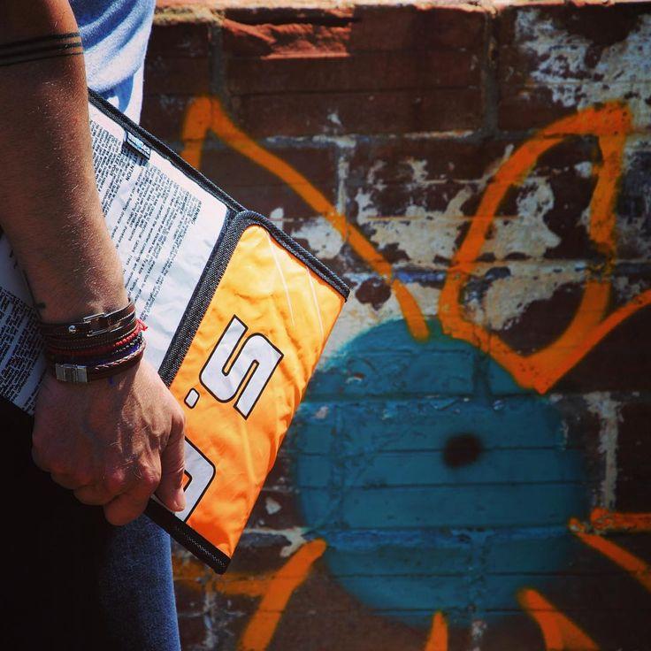 Everything you need to transport your gadgets around town! Photo: @olgaggel #thinksea #ipad #case #reuse #recycle #unique #urbanfashion #summertime #madeingreece #paros #parosurfclub #windsurf #kiteboarding #sail #beachlife
