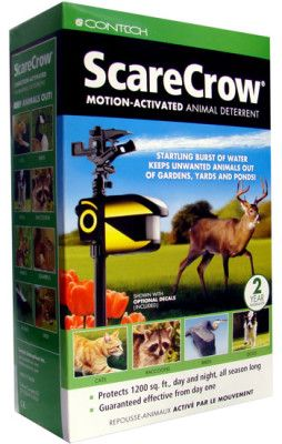 ScareCrow Sprinkler. Maybe I won't need fencing to keep the deer off my plants if I have a few of these