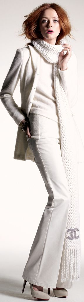Winter White suits with White Heels                              …