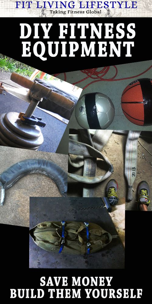 Build your own fitness equipment.  DIY fitness DIY exercise #DIY #FITNESS