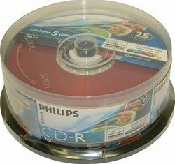 100 Philips LightScribe 5 Color Assortment CDR (CD-R) 52X 80Min/700MB by Philips. $48.94. Philips the innovator of CD technologies offers one of the most complete ranges of CD recordable media. They are available in more than 20 added-value packaging variations. These CD-R's are the best quality for preserving your valuable data on CD. With these Philips CD-R's you're getting ultimate convenience since you're able to access your data on most existing CD-ROM players - one disc ...