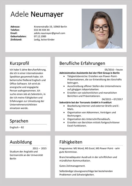 inspiring german resume template ideas german cv templates