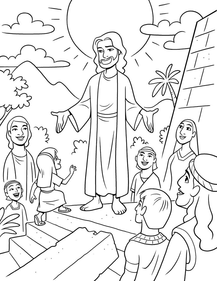 Book of mormon stories this is a fun coloring page of jesus visiting the nephites